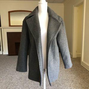 Zara Basic Coat in Gray color
